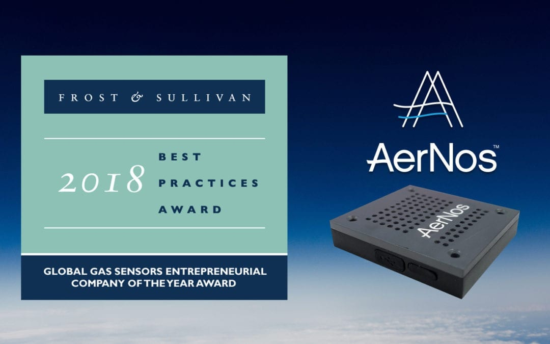 AERNOS WINS FROST & SULLIVAN 2018 ENTREPRENEURIAL COMPANY OF THE YEAR AWARD FOR THE GLOBAL GAS SENSOR INDUSTRY