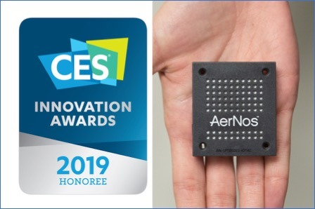AERNOS NAMED A CES 2019 INNOVATION AWARD HONOREE